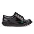 Kickers Kids' Kick Lo Patent Shoes - Black: Image 1