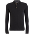 Brave Soul Men's Lincoln Long Sleeve Polo Shirt - Black: Image 1