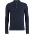 Brave Soul Men's Lincoln Long Sleeve Polo Shirt - Ocean Blue: Image 1