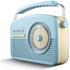 Akai A60010BLDAB DAB Retro Radio - Blue: Image 2