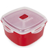Tower T90812R Microwave Steamer 1.48L - Red: Image 1