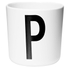 Design Letters Kids' Collection Melamin Cup - White - P: Image 1
