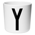 Design Letters Kids' Collection Melamin Cup - White - Y: Image 1