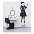 Design Letters Kids' Collection Measurewoman Wallsticker - Black: Image 2