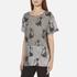 Marc Jacobs Women's Skater Patchwork Cat T-Shirt - Grey/Multi: Image 2