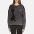 Marc Jacobs Women's Long Sleeve Crew Neck Cat Sweatshirt - Grey: Image 1