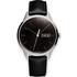 Uniform Wares Men's C40 Polished Steel Italian Nappa Leather Wristwatch - Black: Image 1