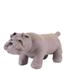 Leather British Bulldog Footstool - Grey: Image 1