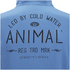 Animal Men's Shiver Zip Through Back Print Hoody - Royale Blue: Image 4