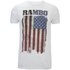 Rambo Men's Flag T-Shirt - White: Image 1