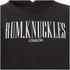 Rum Knuckles Mens London Logo Hoody - Zwart: Image 3