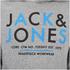 Jack & Jones Men's Core Noah Print Hoody - Light Grey Melange: Image 3