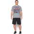 Under Armour Men's Retro Superman Short Sleeve T-Shirt - Steel/Red: Image 3