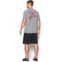 Under Armour Men's Retro Superman Short Sleeve T-Shirt - Steel/Red: Image 5