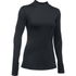 Under Armour Women's ColdGear Armour Mock Long Sleeve Shirt - Black: Image 1