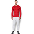 Under Armour Men's ColdGear Jacquard Crew Long Sleeve Shirt - Red/Graphite: Image 3