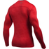 Under Armour Men's ColdGear Jacquard Crew Long Sleeve Shirt - Red/Graphite: Image 2