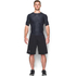 Under Armour Men's HeatGear Armour Printed Short Sleeve Compression T-Shirt - Black/Steel: Image 3