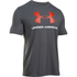 Under Armour Men's Sportstyle Logo T-Shirt - Carbon Heather/White/Dark Orange: Image 1