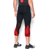 Under Armour Men's HeatGear SuperVent 3/4 Leggings - Black/Red: Image 4