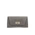 Diane von Furstenberg Women's Gallery Uptown Embossed Croc Clutch Bag - Slate: Image 1