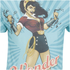 DC Comics Men's Bombshell Wonder Women T-Shirt - Blue: Image 3