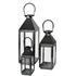 Broste Copenhagen Frit Outdoor and Indoor Lanterns - Black (Set of 3): Image 1