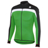 Sportful Pista Thermal Long Sleeve Jersey - Black/Green: Image 1