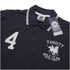 Varsity Team Players Men's College Polo Shirt - Navy/White: Image 2
