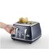 DeLonghi Elements Four Slice Toaster - Blue: Image 2