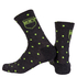 Nalini Wool Pois Socks - Black/Fluro Yellow: Image 1