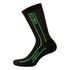 Nalini Compression Socks - Black/Fluro Yellow: Image 1