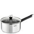 Tefal E8232444 Emotion Stainless Steel 20cm Saucepan with Glass Lid: Image 1