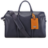 Ted Baker Men's Leather Holdall - Navy: Image 1