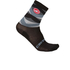 Castelli Fatto 12 Cycling Socks - Black/Grey: Image 1