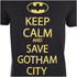 DC Comics Batman Mens Keep Calm T-Shirt - Zwart: Image 5