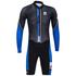 Santini Dirt Shell Aquazero Cyclocross Fleece Body Suit - Black/Blue: Image 3