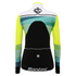 Santini Women's Coral Thermal Long Sleeve Jersey - Yellow: Image 3