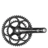 Campagnolo Athena 11 Speed Power Torque Carbon Compact Chainset - Black: Image 1