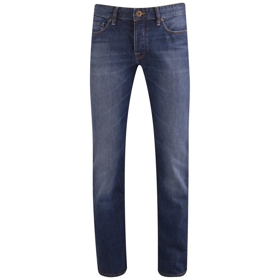 boss orange men 39 s straight leg denim jeans 428 blue mens clothing. Black Bedroom Furniture Sets. Home Design Ideas
