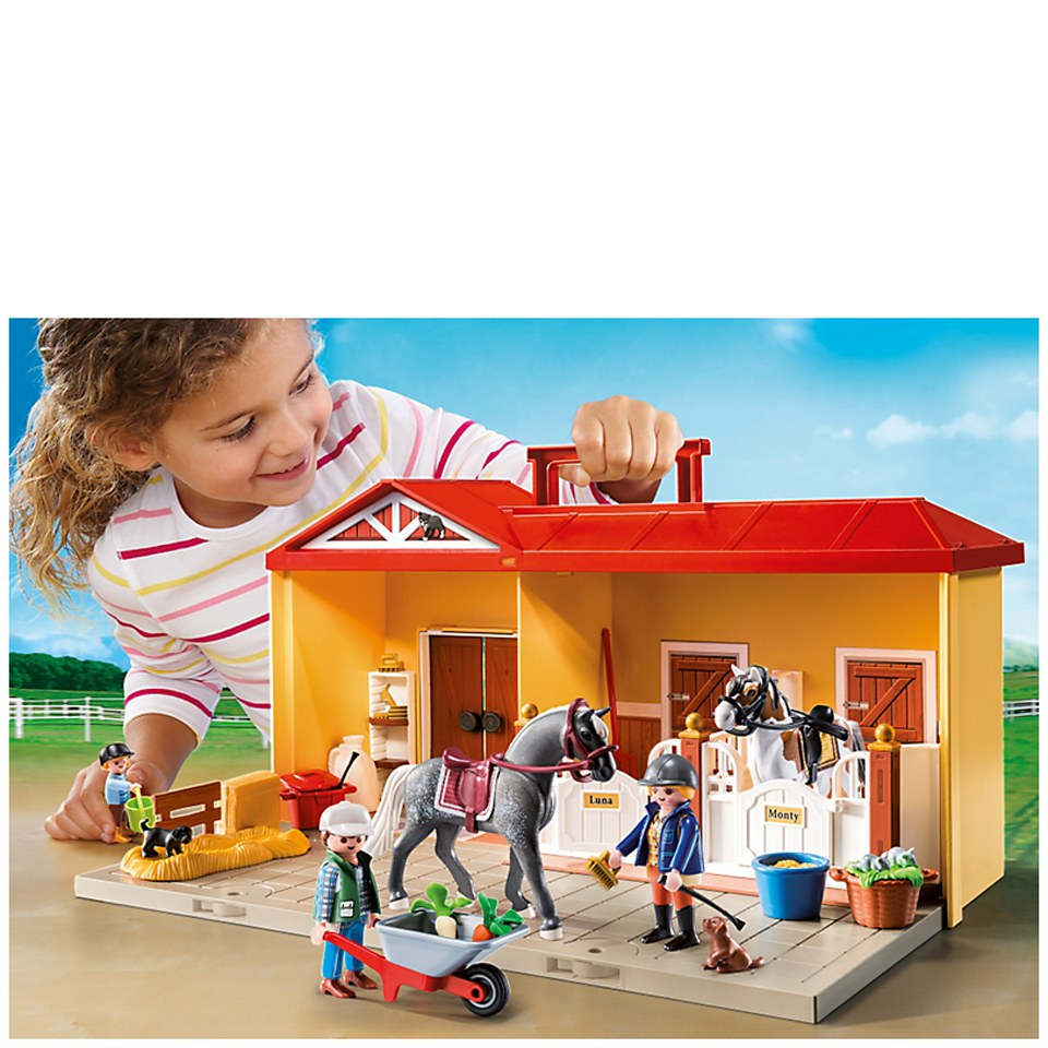 Playmobil Take Along Horse Stable Playmobil Horse Farm Take