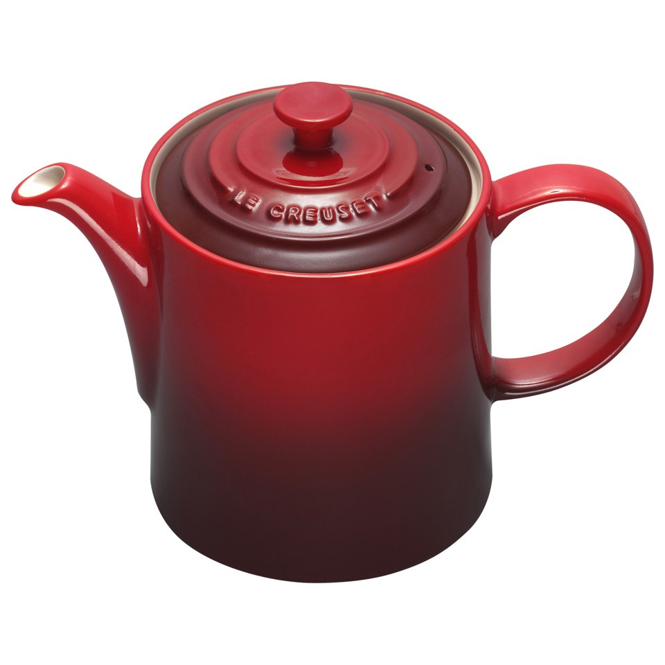 le creuset stoneware grand teapot 1 3l cerise homeware. Black Bedroom Furniture Sets. Home Design Ideas