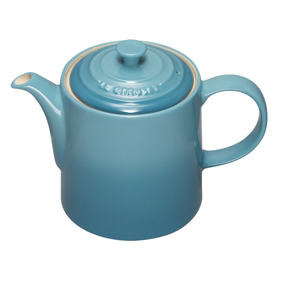 le creuset stoneware grand teapot 1 3l teal iwoot. Black Bedroom Furniture Sets. Home Design Ideas