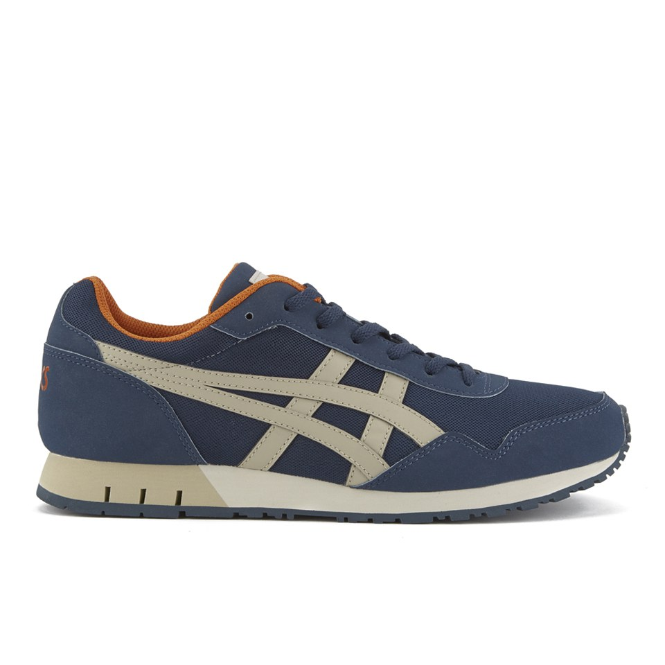 Asics Mens Curreo Trainers NavySand Mens Footwear TheHutcom
