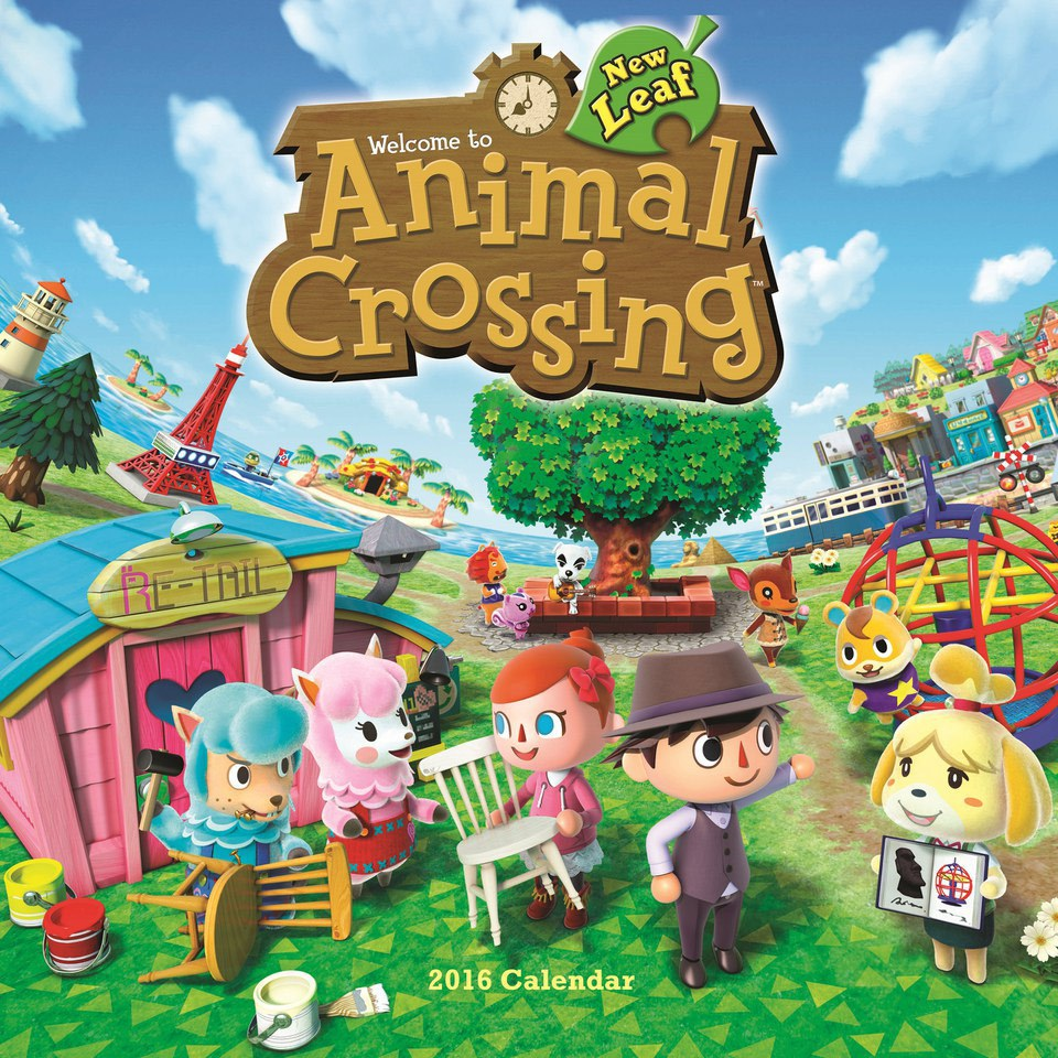 animal crossing new leaf 2016 calendar nintendo uk store