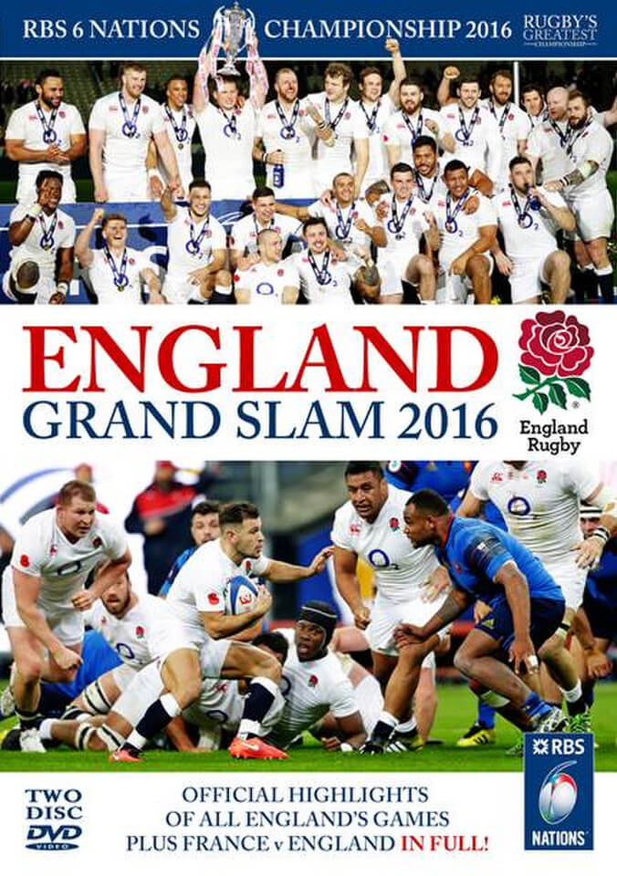 England Grand Slam 2016 - RBS 6 Nations Championship DVD ...