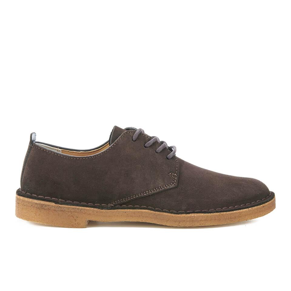 Clarks Originals Mens Desert London Derby Shoes Dark Brown Suede Clothing TheHutcom