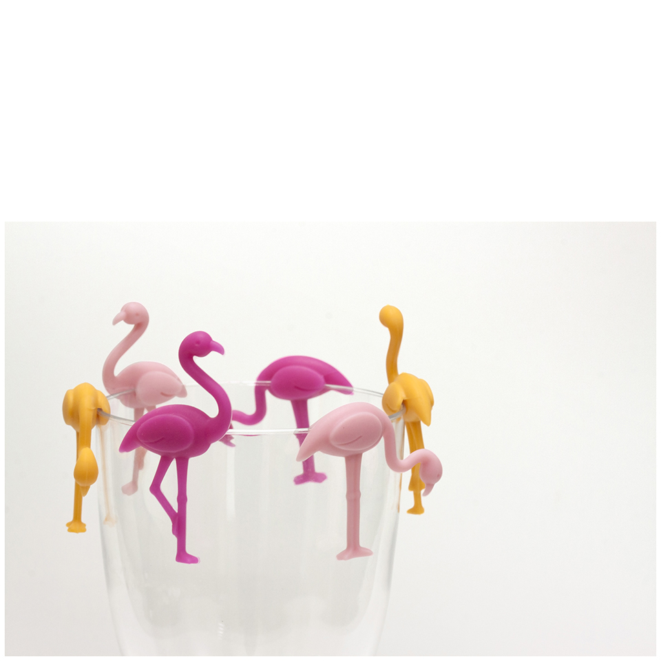 Flamingo Glass Charms Iwoot