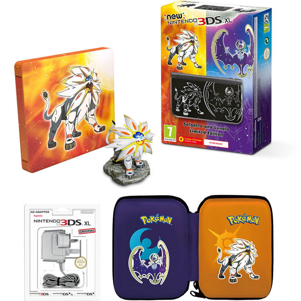 New nintendo 3ds xl solgaleo and lunala limited edition for Housse 3ds xl pokemon