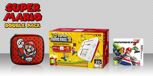 Nintendo 2DS Super Mario Double Pack